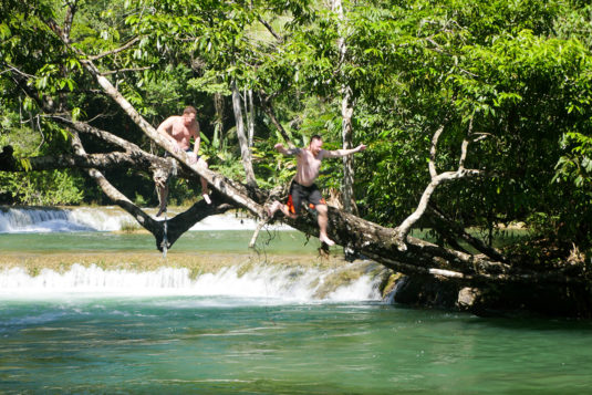 swimming-in-the-waterfalls